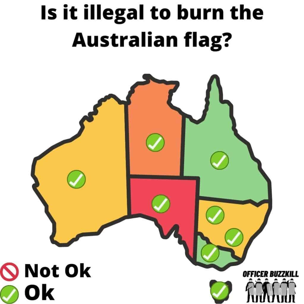 Is it illegal to burn the Australian flag?