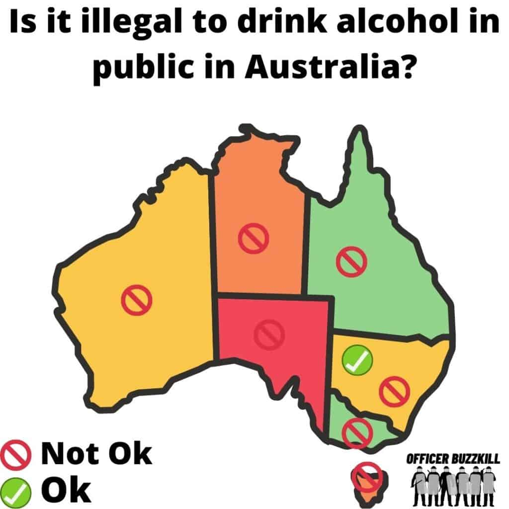 Is it illegal to drink alcohol in public in Australia?