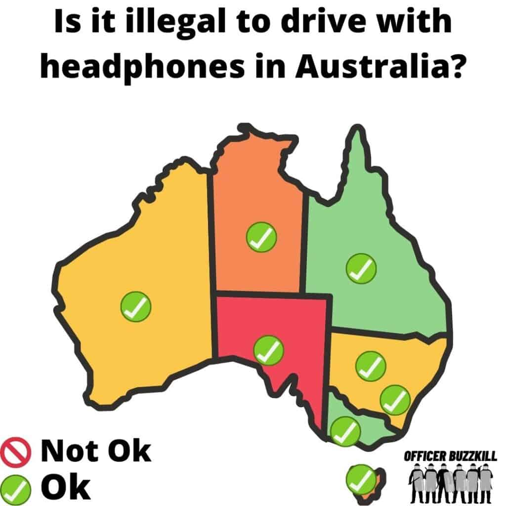 Is it illegal to drive with headphones in Australia?