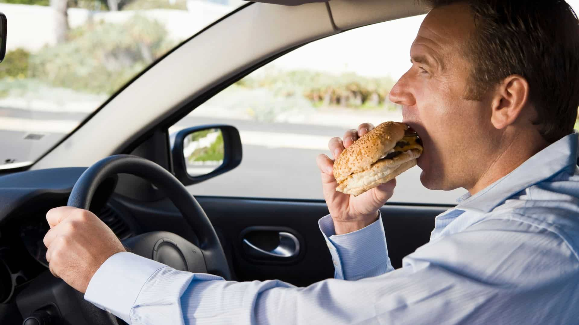 Is it illegal to eat while driving in Australia?