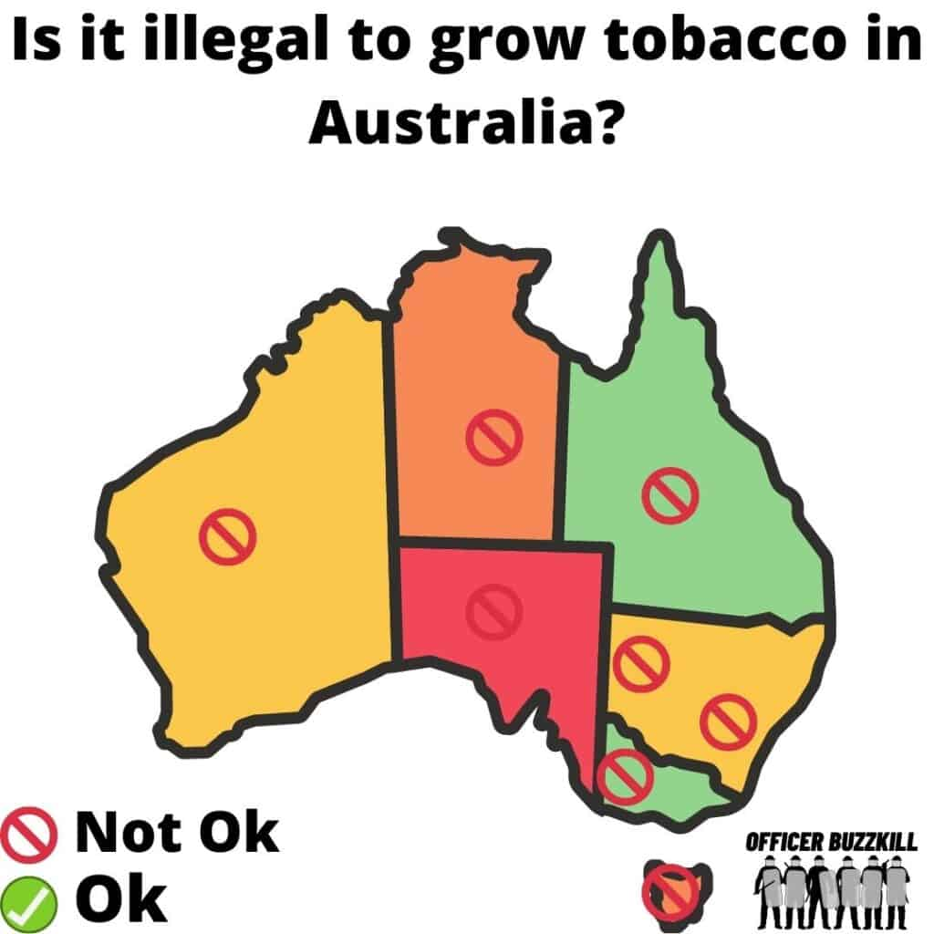 Is it illegal to grow tobacco in Australia?