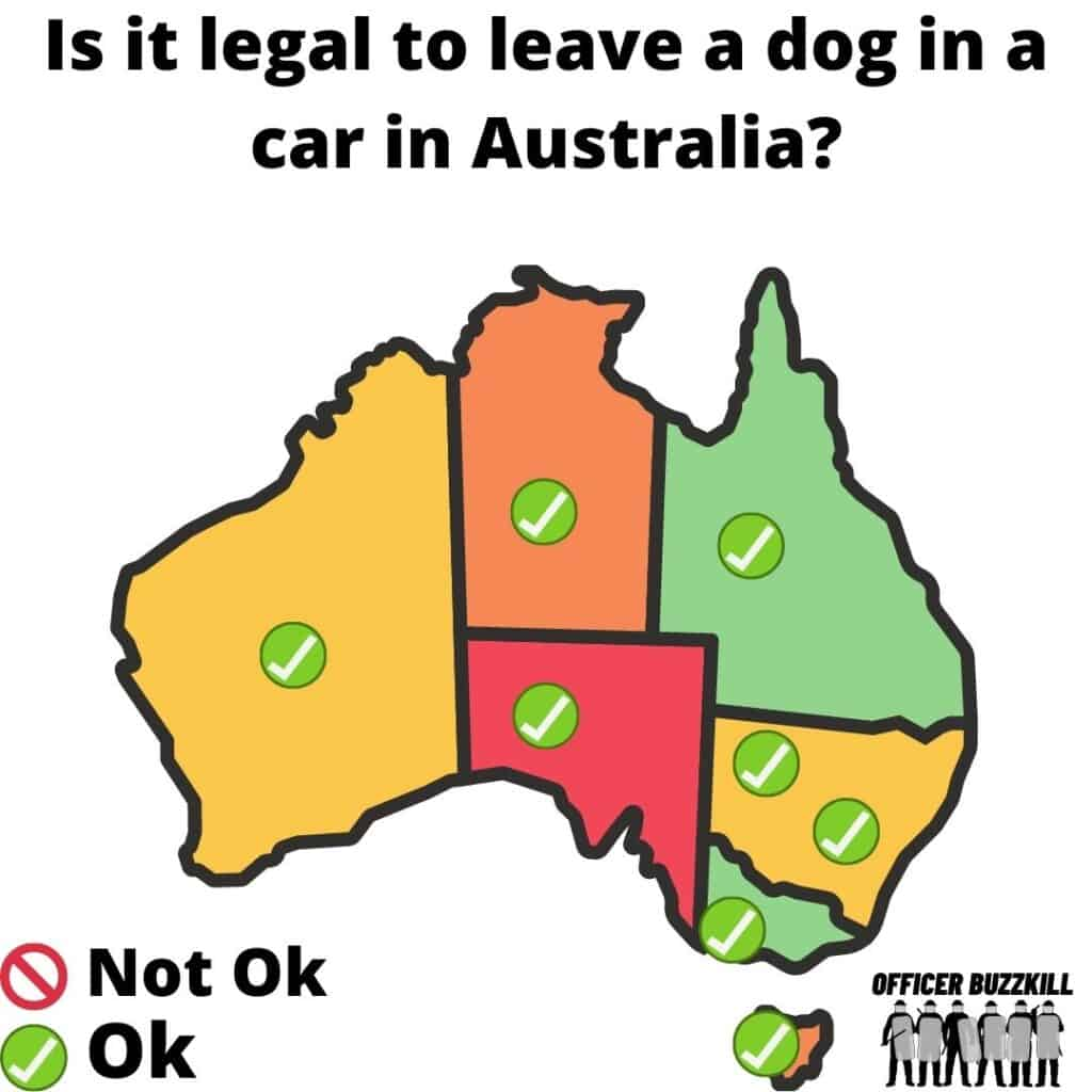 Is it illegal to leave a dog in a car in Australia?