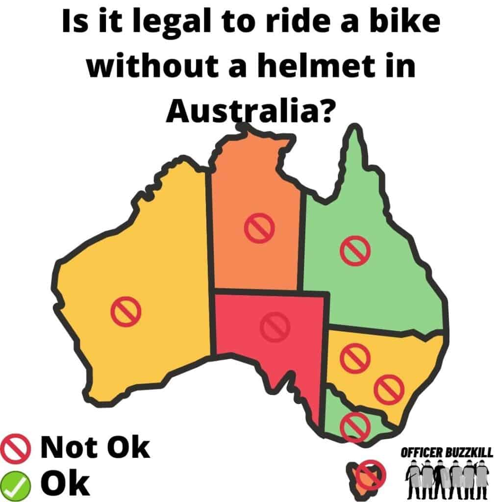 Is it illegal to ride a bike without a helmet in Australia?
