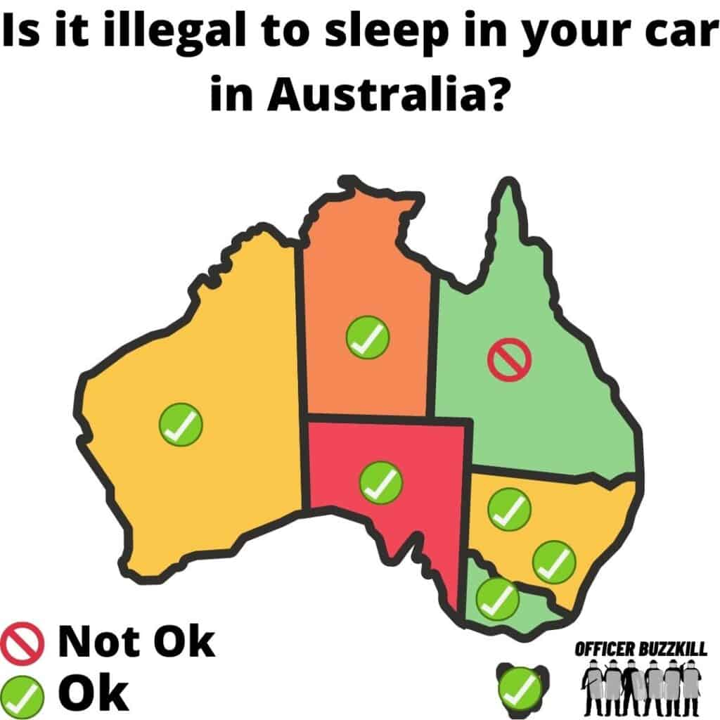 Is it illegal to sleep in your car in Australia?