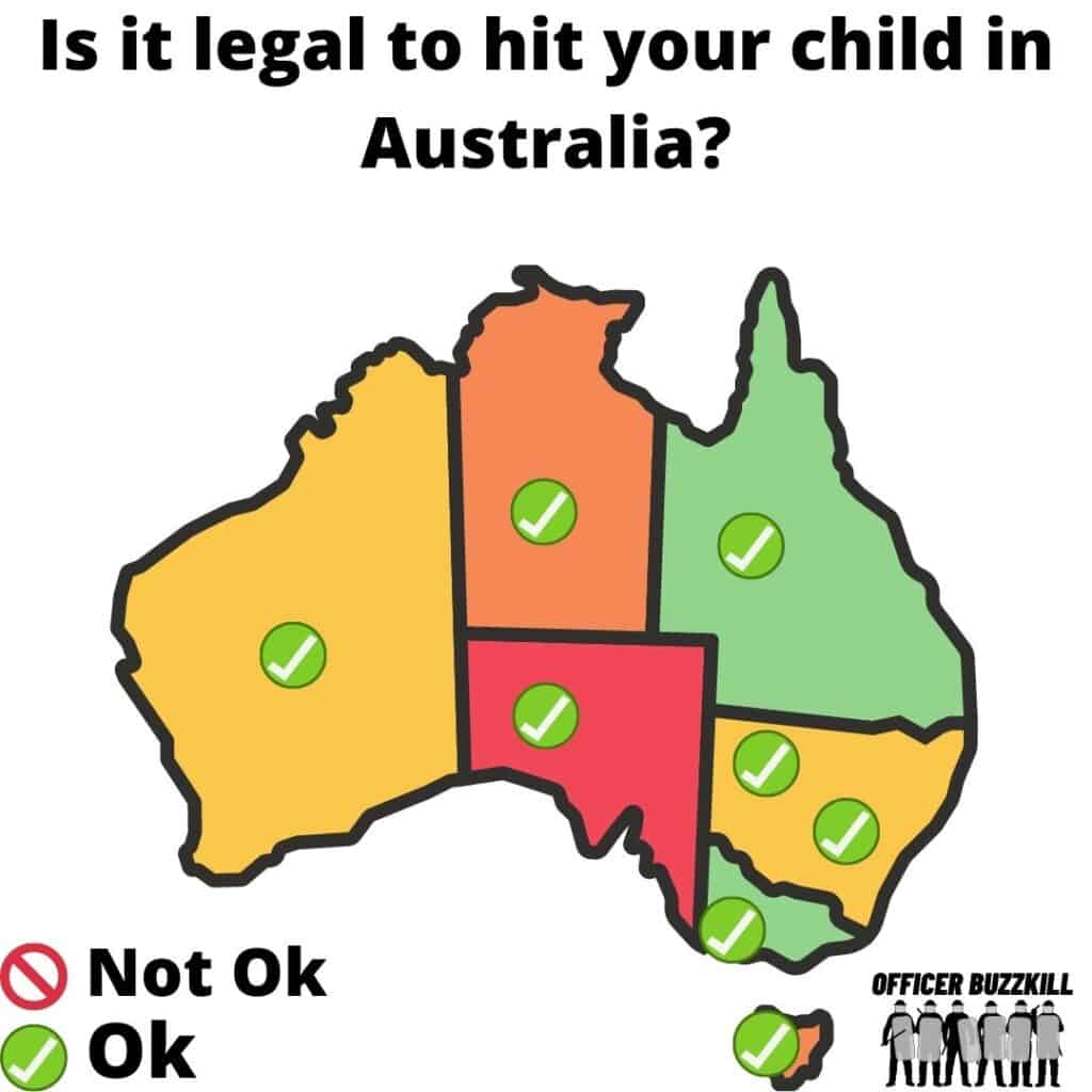 Is it legal to hit your child in Australia?