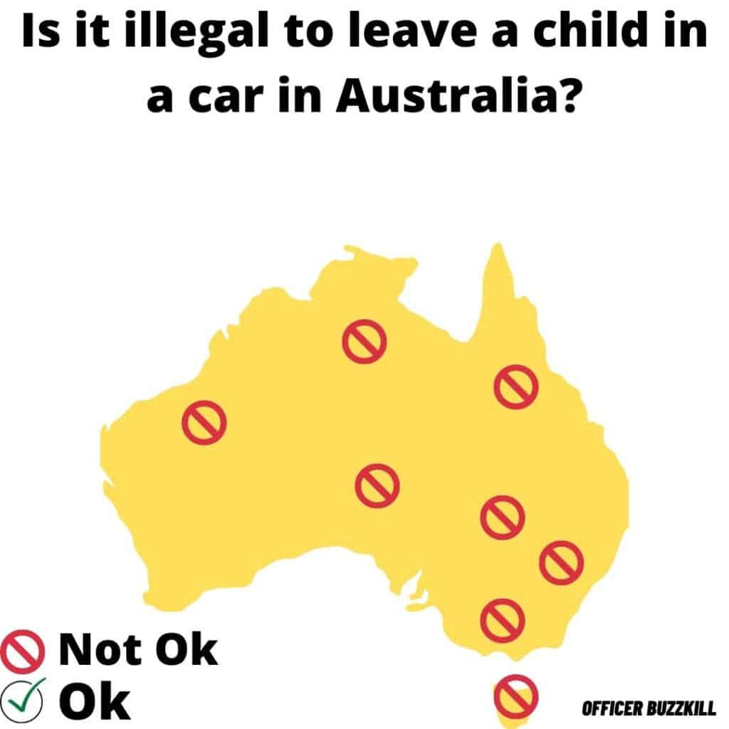 Is it illegal to leave a child in a car in Australia?